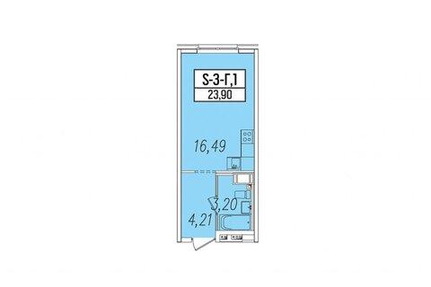 Объявление №43749331: Квартира 1 комн. Санкт-Петербург, ул. Салова, 61 лит. А,
