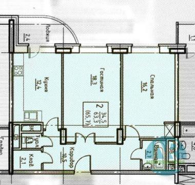 Продается 2 комнатная квартира в ЖК Приозерный - Фото 2