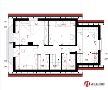 Интересный проект дома 160м2 на участке 6 соток в Новой Москве - Фото 3