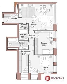 Четырехкомнатная квартира в клубном доме. Тверской район - Фото 1