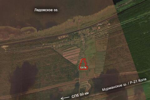 Пп земля участок под коттеджную застройку Ладога газ электрич асфальт - Фото 2