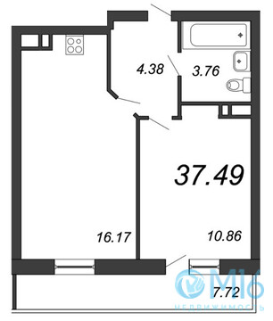 Продажа 1-комнатной квартиры, 37.49 м2, Московское ш, д. 13 - Фото 2