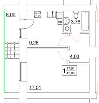 Продам однокомнатную квартиру в новом кирпичном доме! - Фото 4