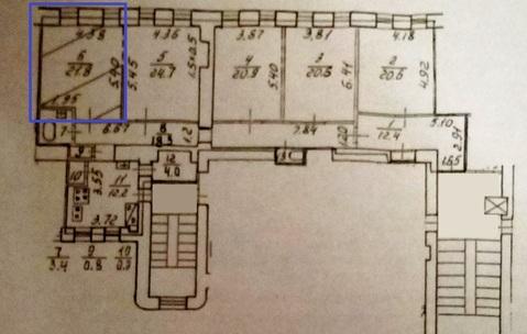Продается комната 21.8 м2, рядом м.Петроградская - Фото 3