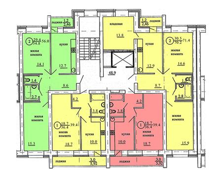 Продажа 1-комнатной квартиры, 40.5 м2, Березниковский переулок, д. 34 - Фото 3