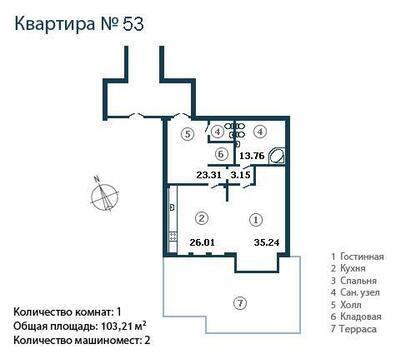 Супер предложение элитна однокомнатная квартира на Крестовском острове - Фото 2