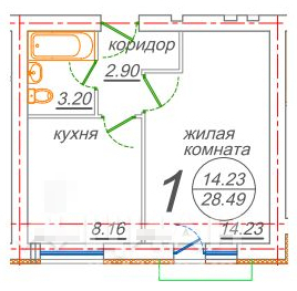Продается 1-комн. квартира 28.5 м2, Новое Ступино - Фото 3