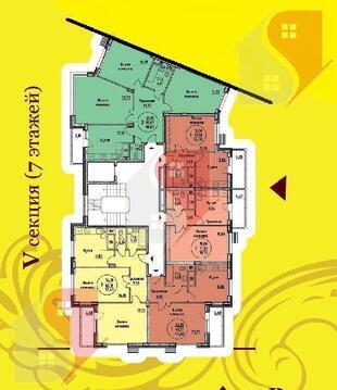 3-комн. кв. 88.62 кв.м. 1/7 эт. Подольск, Бородинский б-р, д. 2 - Фото 2