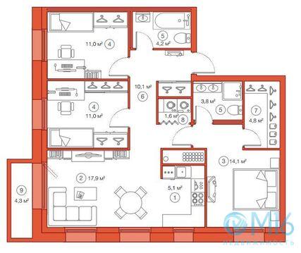 Продажа 2-комнатной квартиры, 84.18 м2 - Фото 2