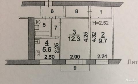 2-к квартира, 40.3 м2, 3/5 эт. - Фото 2
