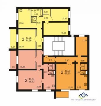 Продам 2-ком квартиру Александра Шмакова 26д 68 кв.м 7 эт / - Фото 3