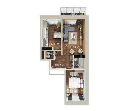 Продается 2-комнатная квартира Подольск - Фото 4