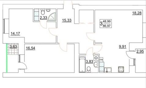 Трехкомнатная квартира в новом кирпичном доме! - Фото 2
