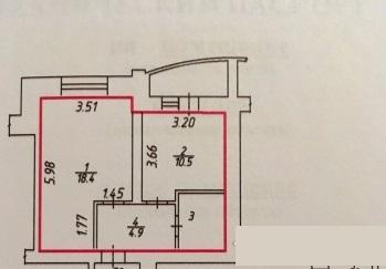 Продается 1-комнатная квартира 38 кв.м. на ул. Болдина - Фото 2