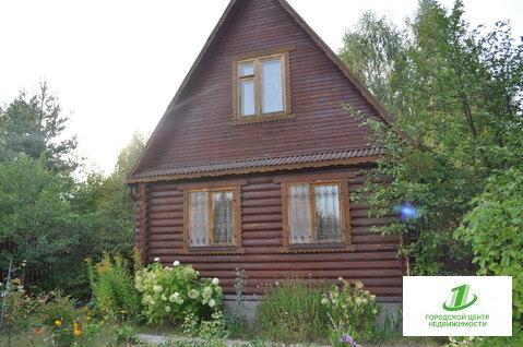 Продам дом с коммуникациями 85м(бревно) в СНТ Восход. д.Фаустово. - Фото 1
