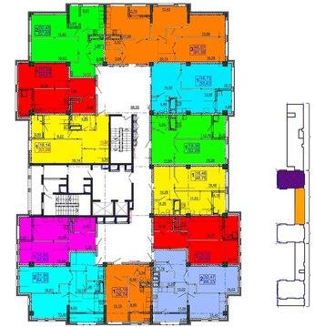 Трехкомнатная квартира в новом доме Есенина 9 - Фото 1