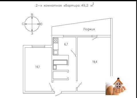 2 комнатная квартира, Шоссейная 26/10 - Фото 5