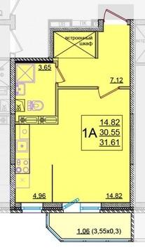 Продается новая квартира-студия - Фото 1