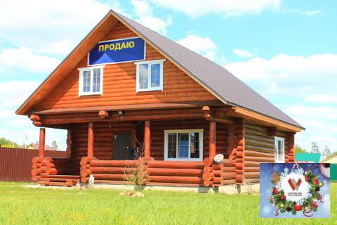 Рубленный дом с удобствами в красивой деревне Бережки на 13 сотках - Фото 1