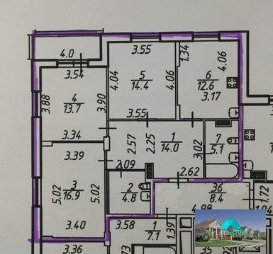 Продается 3-х комнатная квартира в новом жилом комплексе - Фото 3
