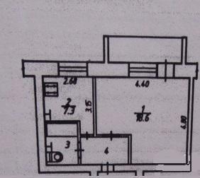 Продается 1-комнатная квартира 36 кв.м. на ул. Белинского - Фото 1