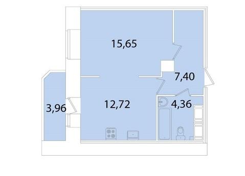 Однокомнатная видовая квартира в новом доме в парке Сосновка - Фото 2