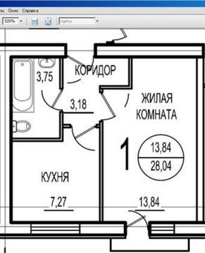 1-но ком. квартира 28 кв. м 3/3 к Новое Ступино, ул. Центральная 11 - Фото 4