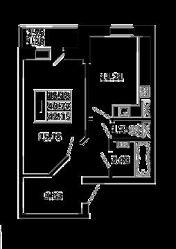 1-комнатная квартира 42,15 кв. м. в ЖК Никольский посад