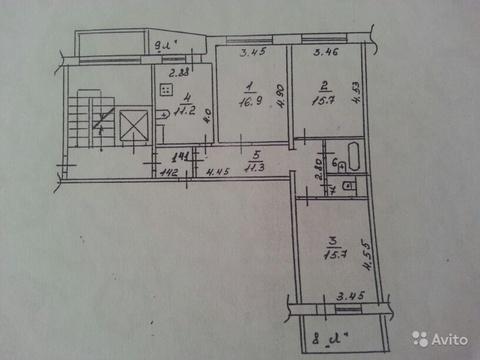 3-комнатная квартира ул. М.Жукова, д.24 - Фото 2