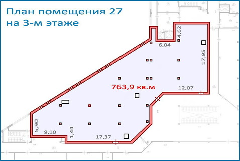 Помещение свободного назначения 763,9 кв.м в новом ТЦ, 6 км от МКАД - Фото 1