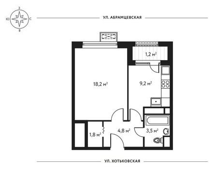 1-комн. квартира 38,7 кв.м. в доме комфорт-класса СВАО г. Москвы - Фото 5
