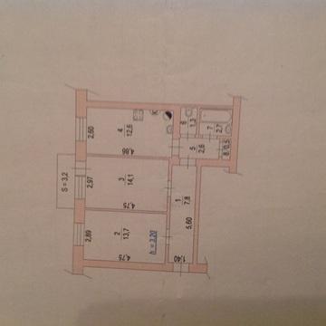 Центр,2 к.кв.56 кв.м, изолированные комнаты - Фото 3