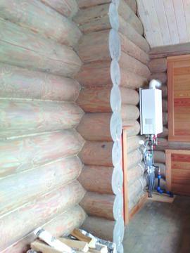 Дом- баня в Кривском, бревенчатая, все-все коммуникации. - Фото 4