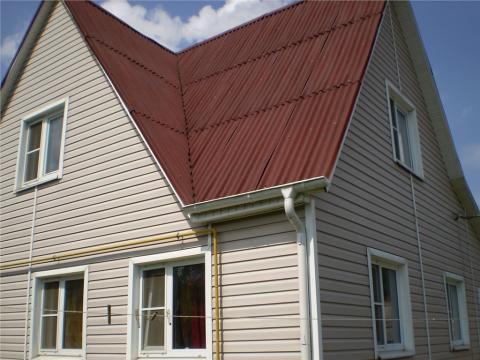 Дом 145 кв. (брус) + газосиликат, на участке 6 сот, 15-19 км до город - Фото 1