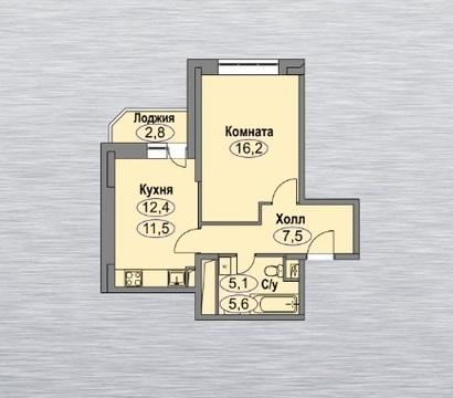 """Однокомнатная квартира 44 квм в ЖК """"Любимое Домодедово"""" - Фото 1"""