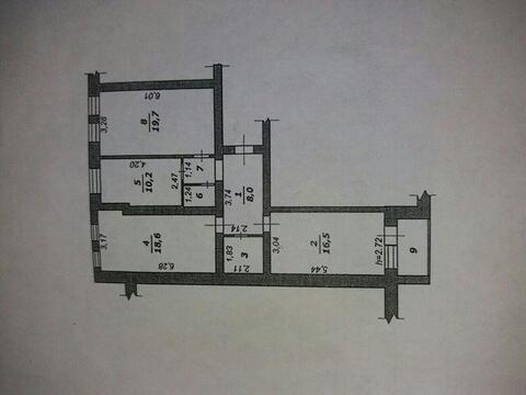 Трехкомнатная квартира с индивидуальным отоплением, новый дом, центр - Фото 5