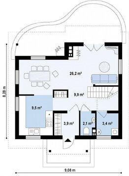 Уютный дом 112 кв.м на участке 12 соток. - Фото 3