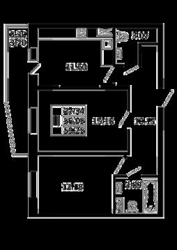 2-комнатная квартира 59,25 кв. м. в ЖК Никольский посад