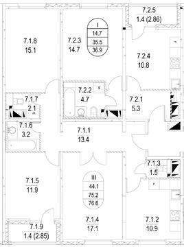 Продается 3-х комнатная квартира в ЗАО - Фото 1