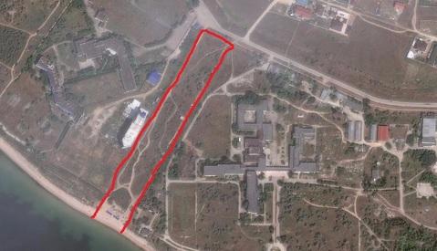 Продается участок на первой линии у моря в Заозерном - Фото 2