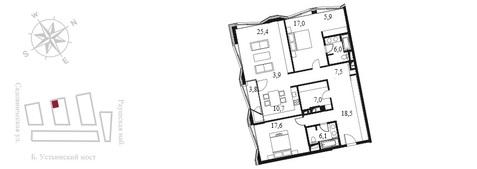 Квартал Клубных Особняков Balchug Residence. Элитные апартаменты 141,6 . - Фото 3