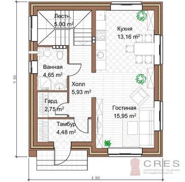 2-х этажный коттедж площадью 105 м2 на участке 7.5 соток - Фото 2