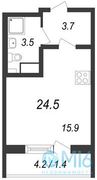 Продажа квартиры-студии, 24.5 м2 - Фото 2