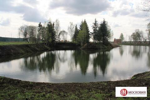 Участок у пруда и леса с лесной посадкой и личным водоемом, Киевское ш - Фото 1