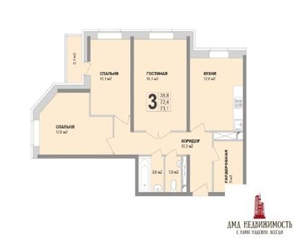 3-х трех комнатная квартира Раменское, ул. Десантная 15 (ном. объекта: . - Фото 1