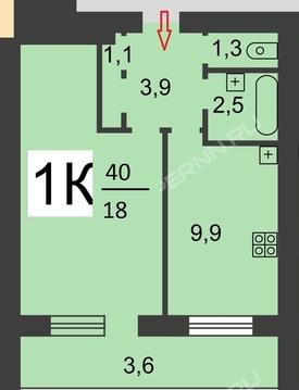 Продам 1-комн. квартиру на Островского,3, Купить квартиру в Нижнем Новгороде по недорогой цене, ID объекта - 321624316 - Фото 1