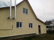 Дом д Тимшино 110м новый брусовой обшит сайдингом газ свет вода 15сот - Фото 1