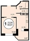 Продается 1 комнатная квартира