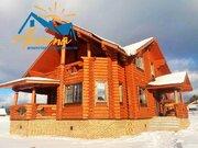 Бревенчатый дом на границе Новой Москвы в поселке Лазурный берег. - Фото 1