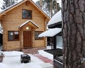 Новый меблированный дом из оцилиндрованного бревна 100м2 4с все ком-ии - Фото 1